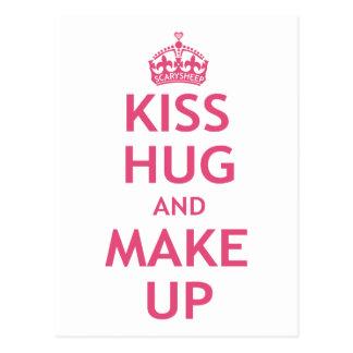 De Omhelzing van de kus en maakt omhoog Briefkaart