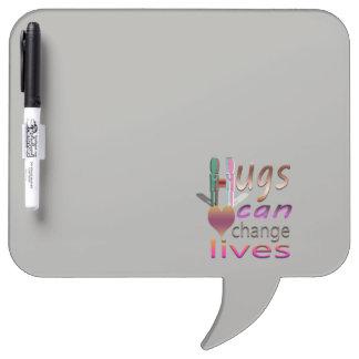 de omhelzingen kunnen het leven veranderen dry erase whiteboard