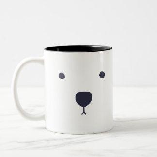 De Omhelzingen van de Ijsbeer Tweekleurige Koffiemok
