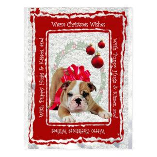 De Omhelzingen van het Puppy van de buldog & Briefkaart