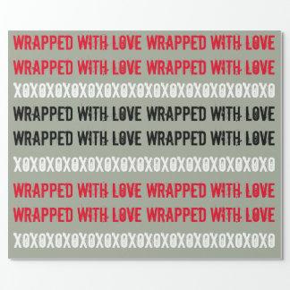 De Omslag van de Gift XOXO Inpakpapier