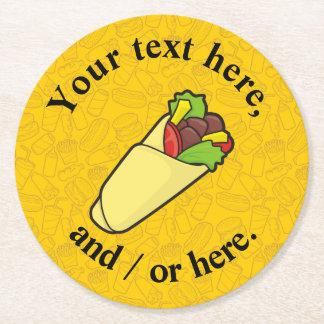 De Omslag van de Sandwich van de tortilla Ronde Onderzetter