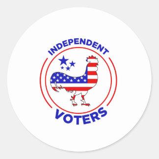 De onafhankelijke Stickers van Kiezers
