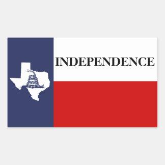 De Onafhankelijkheid van Texas - de Eenzame Vlag Rechthoekige Sticker