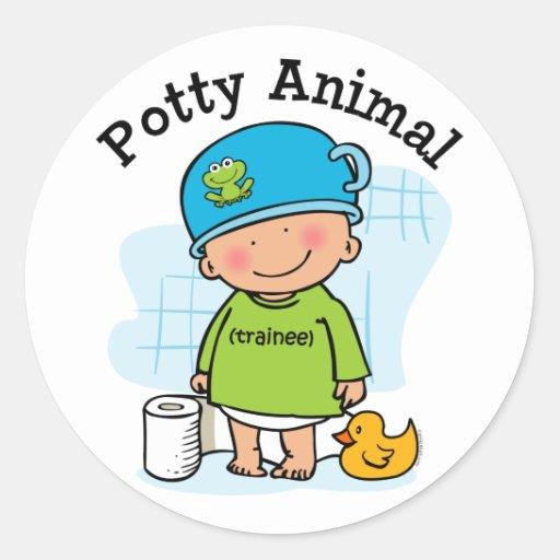 De onbenullige dierlijke sticker van de jongen zazzle - Opslagkast ruimte van de jongen ...