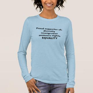 De ondersteunende gelijkheid van de t-shirt, t shirts