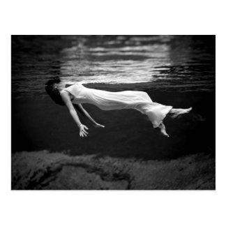 De onderwater Fotografie van de Mode Briefkaart