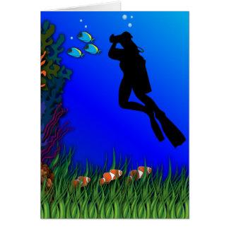 De onderwater Lege Kaart van de Fotograaf