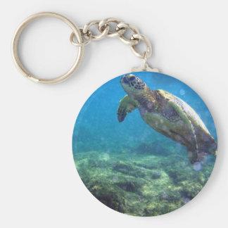 de onderwater sleutelring van de zeeschildpad sleutelhanger