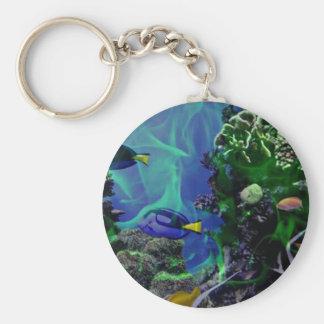 De onderwater Wereld van de Fantasie van vissen Sleutelhanger