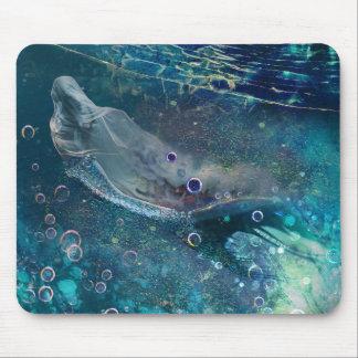 De OnderwaterMeermin van de Aura van de indigo Muismat
