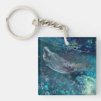 De OnderwaterMeermin van de Aura van de indigo Sleutelhanger