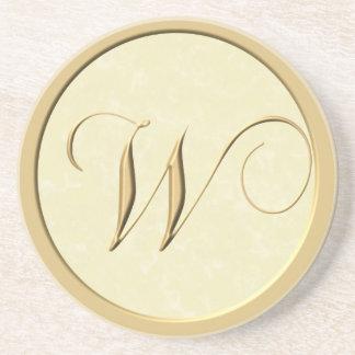 De onderzetters van het monogram - brief W