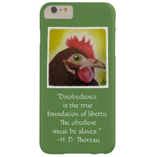 De ongehoorzaamheidcitaat van Thoreau op een Barely There iPhone 6 Plus Hoesje