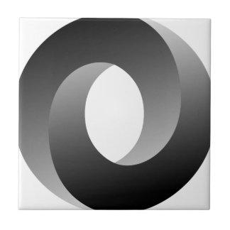 De onmogelijke Optische illusie van de Cirkel Tegeltje