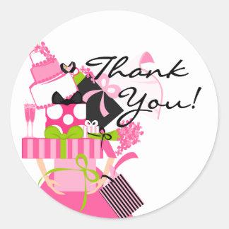 De onmogelijke Stapel van het Huwelijk dankt u Ronde Sticker