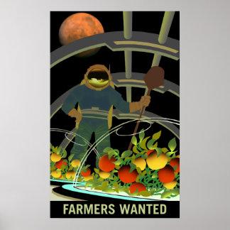 De Ontdekkingsreizigers van Mars - Landbouwers Poster