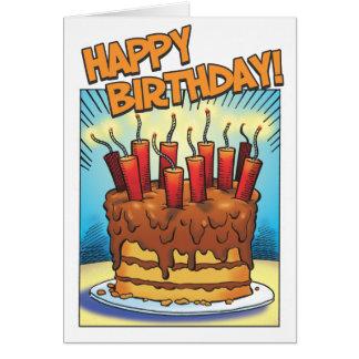 De Ontploffing van de verjaardag Briefkaarten 0