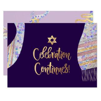 De Ontvangst Mitzvah van PixDezines/paarse Kaart