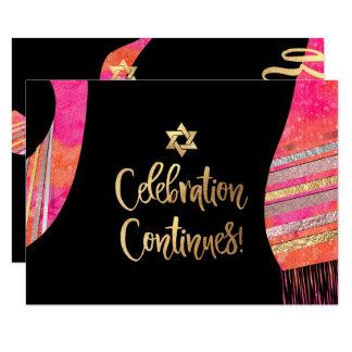 De Ontvangst Mitzvah van PixDezines/roze waterverf Kaart