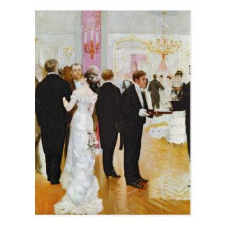 De ontvangst van het Huwelijk, c.1900 Briefkaart