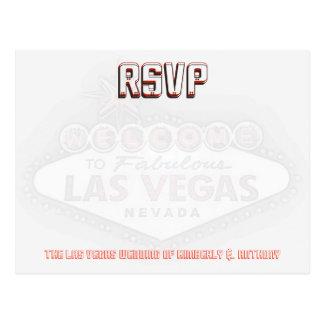 De Ontvangst van het Huwelijk van Las Vegas RSVP Briefkaart