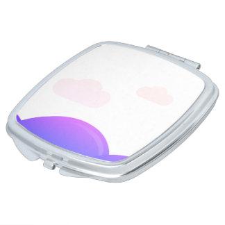 De ontwerpers weerspiegelen: met paarse Heuvels Makeup Spiegeltje