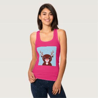 De ontwerperst-shirt van dames met Rendier Tanktop