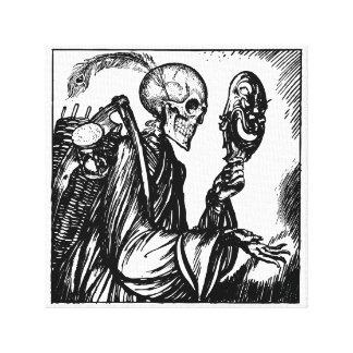 De Onverbiddelijke Maaimachine van het skelet met Canvas Print