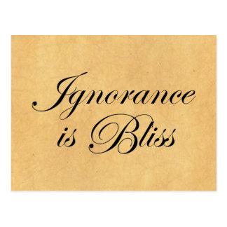 De onwetendheid is Bliee Briefkaart