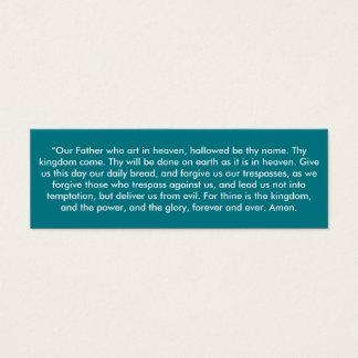 """De """"Onze Vader"""" weinig neemt van nota Mini Visitekaartjes"""