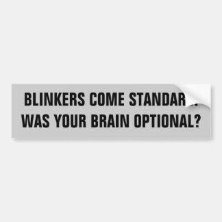 De oogkleppen zijn Standaard - de Hersenen zijn Bumpersticker