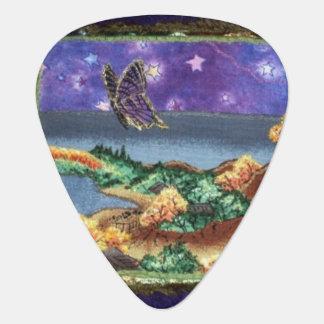De Oogst van de Gitaar van de Vlinder van de nacht Gitaar Plectrums 0