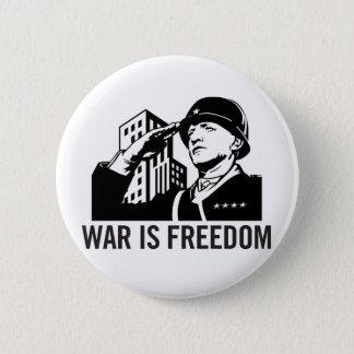 De oorlog is de Knoop van de Vrijheid Ronde Button 5,7 Cm