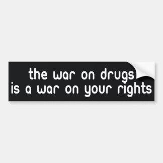 De oorlog op de bumpersticker van Drugs
