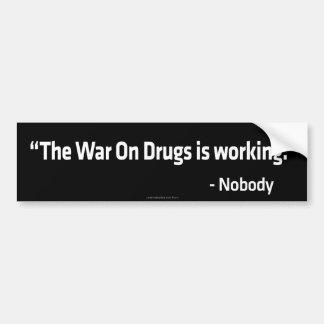 De oorlog op Drugs die zegt niemand werken Bumpersticker