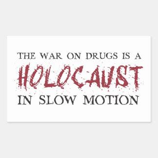 De oorlog op Drugs is een Holocaust in Langzame Rechthoekige Sticker