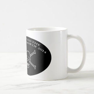 De oorlogsmok van het skelet koffiemok