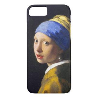 De Oorring ~ Vermeer van de Parel van het meisje w iPhone 7 Hoesje