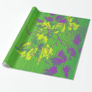 De oosterse Groene Paarse Smaragdgroene Boom Cali Inpakpapier