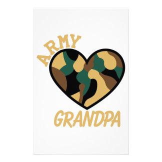 De Opa van het leger Briefpapier