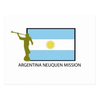 DE OPDRACHT LDS VAN ARGENTINIË NEUQUEN BRIEFKAART
