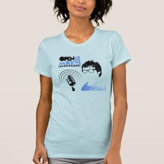 De open Blauwe Vrouwen van de T-shirt Mikeless met