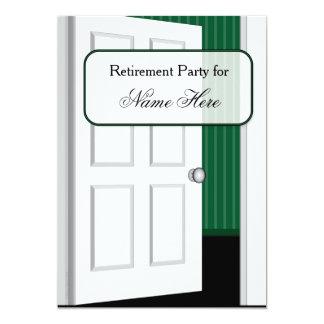 De open Partij van de Pensionering van de Deur Kaart