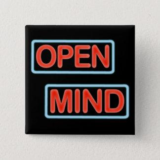 de open speld van de meningsknoop vierkante button 5,1 cm