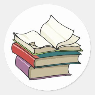 De open Stickers van het Boek