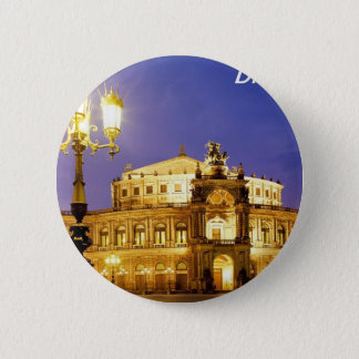 De Opera van Semper- Dresden-Duitsland-angie-.JPG Ronde Button 5,7 Cm