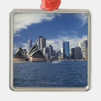 De operahuis van Sydney, Australië Zilverkleurig Vierkant Ornament