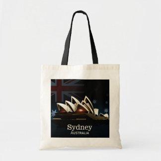 De operahuis van Sydney bij nacht Draagtas