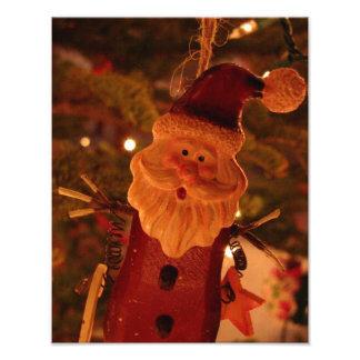 De opgeschrokken Kerstman Fotoafdrukken